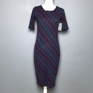 🆕 LulaRoe Julia Dress Diamond Pattern